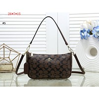 COACH 2019 new double shoulder strap classic double C handbag shoulder diagonal package #5