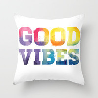 Good Vibes Throw Pillow by Dan Elijah G. Fajardo | Society6