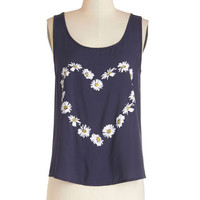 ModCloth Festival Mid-length Tank top (2 thick straps) Love in Bloom Tank