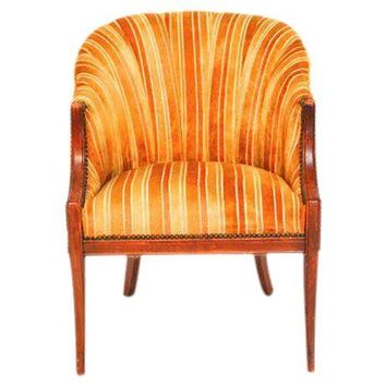 Pre-owned Mid-Century Modern Channel Back Club Chair