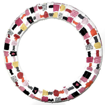 Nail Polish Steering Wheel Cover, Cute Girly Car Wheel Cover, Made in USA, Custom Car Accessory