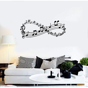 Vinyl Wall Decal Musical Infinity Music Room Decoration Art Stickers Mural (ig5888)