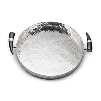 Orion Round Tray w/Buffalo Horn