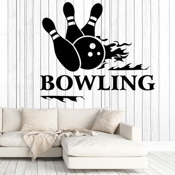 Vinyl Decal Wall Stickers Bowling Sport Entertainment Center Mural Unique Gift z4657