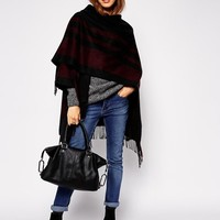 ASOS | ASOS Cape With Burgundy Stripe at ASOS