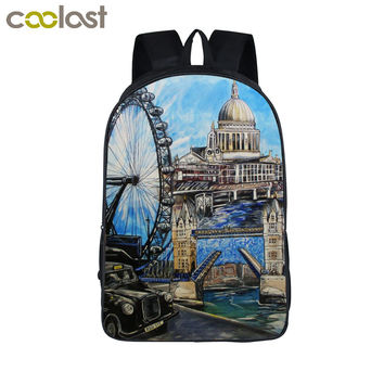 oil painting landscape backpack for women men travel bags boys girls school backpack bags for teenager kid bag student schoolbag