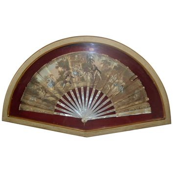 18th Century Hand-Painted Fan
