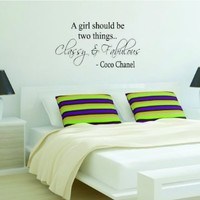 Classy and Fabulous Coco Chanel Decal Sticker Wall Vinyl Art