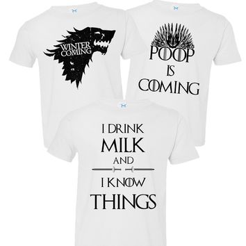 RB Clothing Co *Kids Cute 3 Pc Game of Thrones Bodysuit Set or T-Shirt's USA MADE & Shipped!