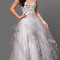 Long Ball Gown Style Terani Prom Dress