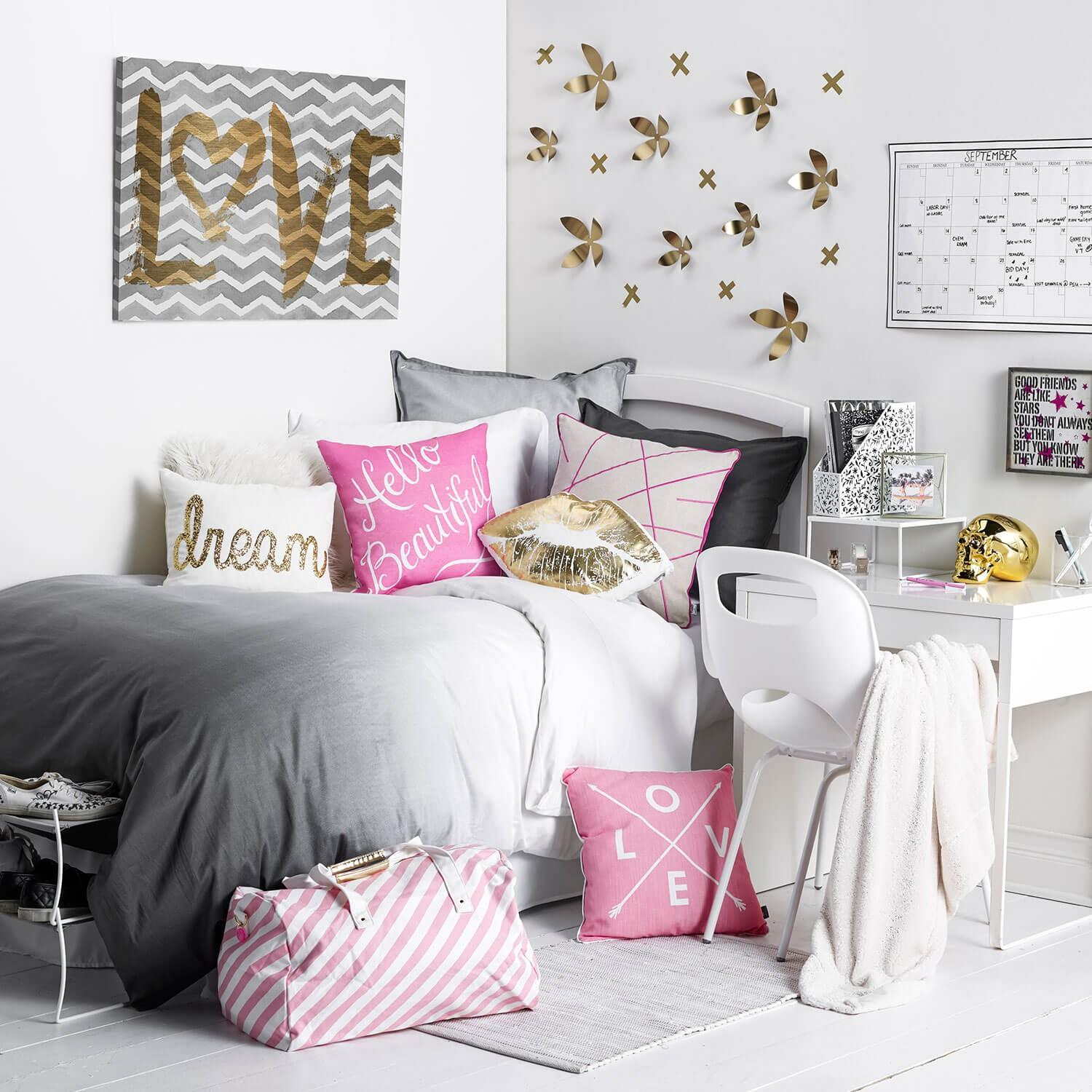 girly boss room from dormify beauty sleep