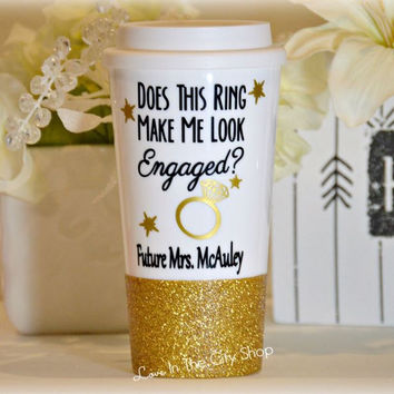Does This Ring Make Me Look Engaged Travel Mug