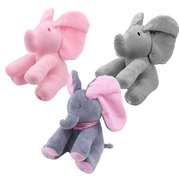 Baby Animated Flappy The Elephant Plush Toy  Electric Toy Doll Educational Toy