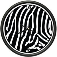 ZEBRA Wall Clock animal print home bedroom decor gift