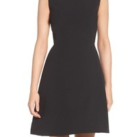 Charles Henry Woven Fit & Flare Dress | Nordstrom
