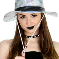 HOLOGRAPHIC SAFARI HAT