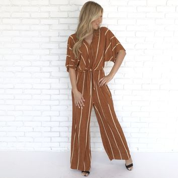 Long Horn Rust Jumpsuit