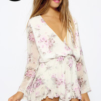 Quaint Playsuit - Purple