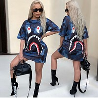 BAPE SHARK Printed T-shirt dress