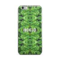 Indicud Marijuana Weed Cannabis Floral Pot Plant Leaves Leaf Logo Green iPhone 4 4s 5 5s 5C 6 6s 6 Plus 6s Plus 7 & 7 Plus Case