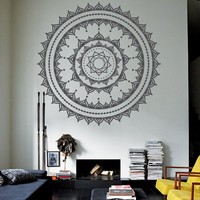 Wall Decor Vinyl Sticker Decal Mandala Hindu Hinduism Religion Faith Art Ornament Tracery Bedroom Yoga Mehndi (S168)
