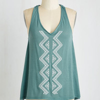 Boho Mid-length Sleeveless Can't Take My Eyes Off of View Top