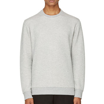 T By Alexander Wang Heather Grey French Terry Sweatshirt