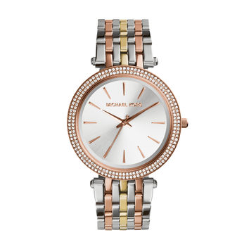 MICHAEL KORS WATCH  WOMEN LADIESMETALS DARCI STAINLESS STEEL MK3203