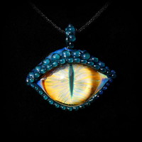 Golden Eye, Bella Glass Dragons Eye Pendant