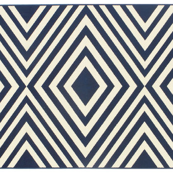 Andros Outdoor Rug, Navy, Area Rugs