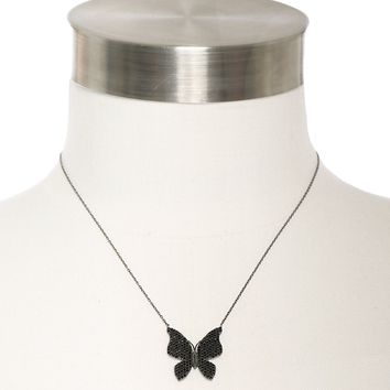 Marlyn Schiff Black Butterfly Necklace