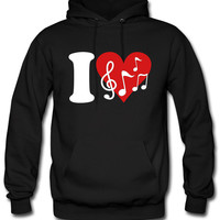 I love Music - Notes hoodie