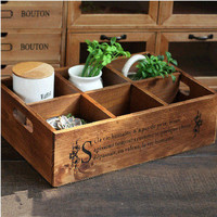 Home Decor Weathered Wooden Storage Box Home Crafts Tray [6282879174]