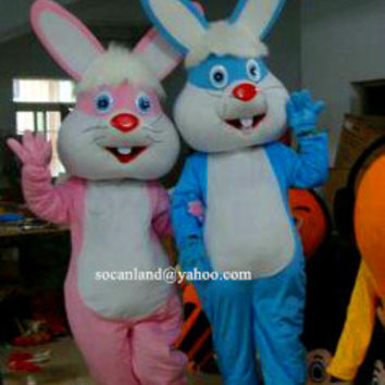 Easter/Xmas Rabbit/Bunny Mascot Costume,Cosplay Costume,Adult Costume,Party Costume,Halloween Costume,Easter Costume,Rabbit Cosplay,Clothing