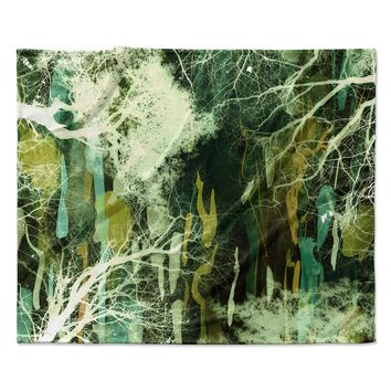 "Iris Lehnhardt ""Tree Of Life Green"" Nature Green Fleece Throw Blanket"