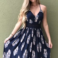 Dance With Me Maxi- Navy