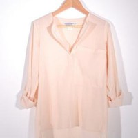 100% Silk Oversized Rolled Up Sleeved Shirt