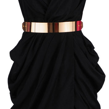 Clothing :: Dresses :: Glamour Dresses :: 'Monroe' Black Chiffon Wrap Dress - Celeb Boutique - Celebrity Style At High Street Prices| Bodycon Dresses | Bandage Dresses | Party Dresses