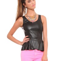 Moto Peplum Top - Tops - Clothes | GYPSY WARRIOR