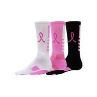 Red Lion Ribbon Legend Crew Breast Cancer Awareness Socks 3 Pair Pack: Sports & Outdoors