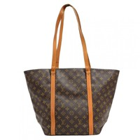 Vintage Louis Vuitton Sac Shopping Monogram Canvas Shoulder Tote Bag