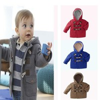 Boys Winter Jacket with Hoodie: 4 Colors!
