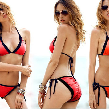 Swimwear Bikini 2016 Summer Sexy Swimwear Women Swimsuit Neoprene Bikini Push Up Bikini Set Womens Swim Wear