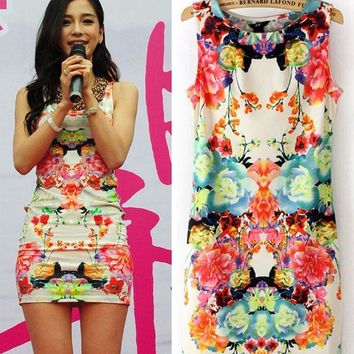 Women's Sleeveless Blossom Dress