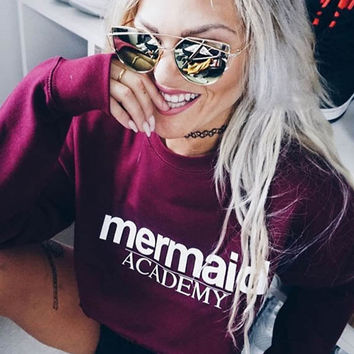 Mermaid Academy Sweater Jumper Sweatshirt Mens Womens STP155