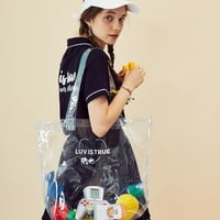 [LUV IS TURE] RE TOTE BAG(WHITE)