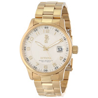 Invicta 15261 Men's I-Force Silver Dial Yellow Gold Tone Stainless Steel Watch