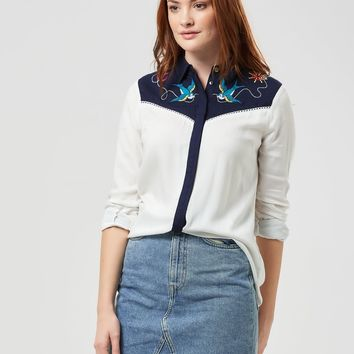 Sail Away Embroidered Cowboy Shirt from Sugarhill Boutique