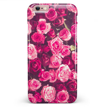 Vibrant Pink Vintage Rose Field iPhone 6/6s or 6/6s Plus INK-Fuzed Case