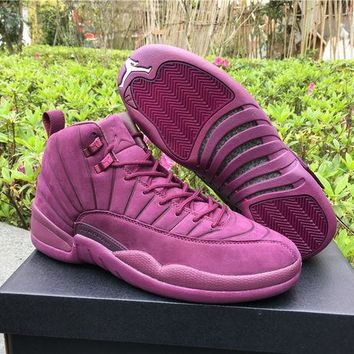 "NIKE AIR JORDAN 12 ""Purple"" Men's Basketball Shoes"